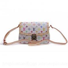 Louis Vuitton Monogram Multicolor Handbag Blanc LV M92661