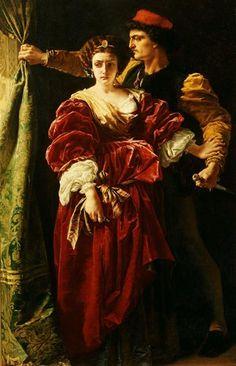 alfred elmore paintings - Lucrezia Borgia, 1863