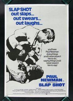 Slap Shot Paul Newman Hockey Movie Poster Slapshot | eBay