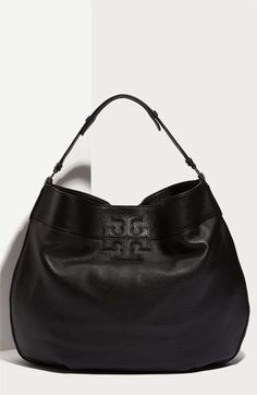 Tory Burch 'Stacked T Logo' Leather Hobo | Nordstrom