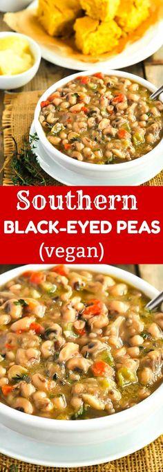 Southern Black-Eyed Peas (Vegan)