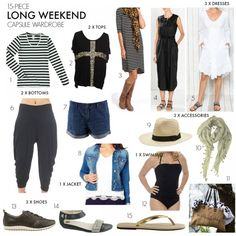 15-piece long weekend capsule wardrobe | what to pack | Styling You