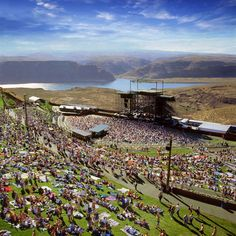 The Gorge Amphitheater.   I have been to so many in Detroit and around Michigan, but this is a bucket list one, just to enjoy the outdoors along with cool music.