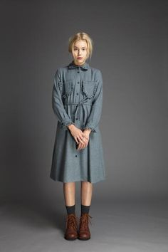 Ruffle Pocket Dress