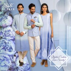 Bubber Couture​ loves Serenity Blue! Do you?  Get in trend with Summer Serenity Blue with Bubber Couture today!    #serenity #serenityblue #pantone #colourof2016  #ombre #princess #kurta #sherwani #bandhi #indowestern #menswear #womenswear #indianwear #springsummer #bubbercouture