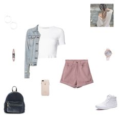 """ootd #26"" by synclairel ❤ liked on Polyvore featuring Rosetta Getty, Vans, BP., Maybelline, rag & bone, Winter, cute, casual and ootd"