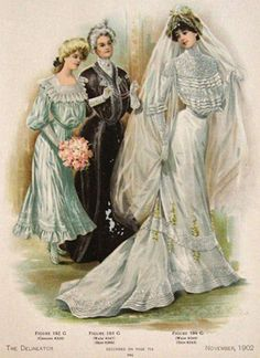 victorian wedding pictures | original women's fashion print featuring a gorgeous Victorian Wedding ...