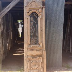 What an antique iron door!