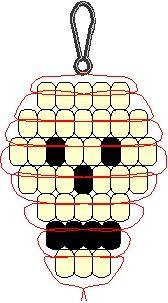 Skull Keychain Pony Bead Pattern