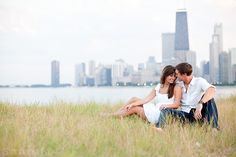 Chicago engagement session : Brittany + Matt - Scottsdale, Orange County Wedding Photographer