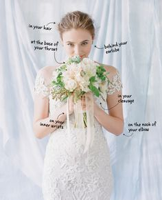 Where to spray perfume to ensure it lasts throughout your entire wedding day