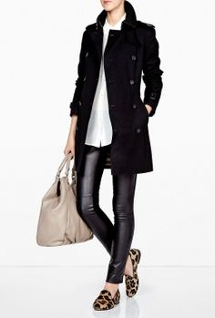 Jet Black Buckingham Trench Coat by Burberry Brit