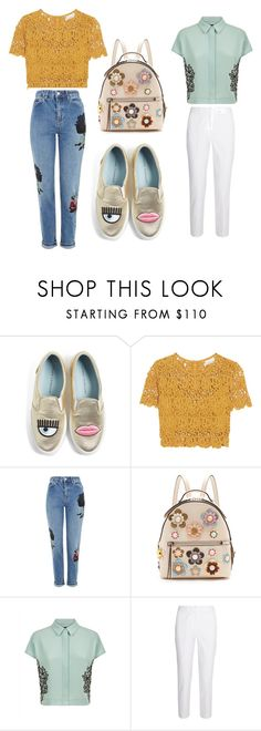"""1or2"" by phamthuquynh on Polyvore featuring Chiara Ferragni, Miguelina, Topshop, Fendi, Jaeger and Michael Kors"