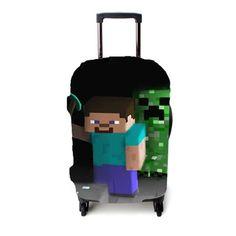 Game Minecraft Lege Luggage Cover – Etsyenvy Luggage Cover, Minecraft, Suitcase, Briefcase