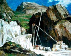 Sir David Young Cameron, RA - The Marble Quarry, Iona