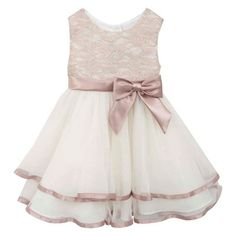 Rare, Too! Baby Girls' Lace Dress with Ballerina Skirt Dress - Ivory : Target
