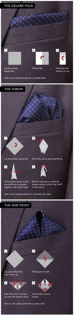Pocket Square tutorial Via