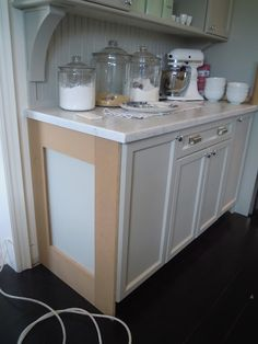 Ending the cabinets at eatherside for a more finished look