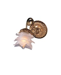 Crystorama 461-OB-L 1-Lights Cast Brass Wall Sconce Accented With Tulip Glass - Olde Brass