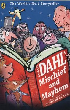 Roald Dahl's Mischief and Mayhem. Where do you hide a glass eye?How do you booby trap a peach? What do Matilda, the Twits an. Roald Dahl Games, Roald Dahl Day, Roald Dahl Books, Great Books To Read, New Books, Famous Short Stories, The Twits, Famous Books, Every Day Book