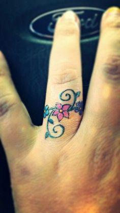 On Sale Wedding Invitations Toe Ring Tattoos, Ring Tattoo Designs, Hand Tattoos, Sleeve Tattoos, Tattoo Rings, Tatoos, Cool Finger Tattoos, Finger Tattoo For Women, Wrist Tattoos For Women
