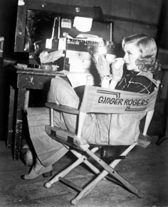 1937: Ginger Rogers during filming of Shall We Dance