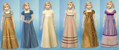 Sims 4 Regency dress for girls download
