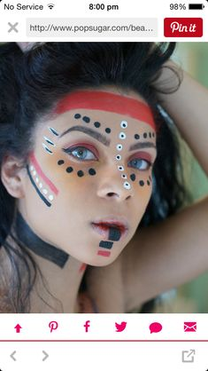 Native American Indian make up Disfraces Halloween Mujer ca74f58c024