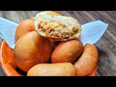 SALTFISH STUFFED BAKES  recipe Guyanese food - YouTube Bake And Saltfish, Cooking Videos, Baked Potato, Baking Recipes, Potatoes, Stuffed Peppers, Ethnic Recipes, Youtube