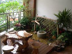 Garden decor in Balcony Interior Design