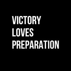 """In-your-face Poster """"Victory loves preparation"""" #807275 - Behappy.me"""