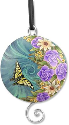 beautiful butterfly by the fabulous polymer artist Lynne Ann Schwarzenberg.