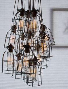 Industriele verzameling lampen Door Vonneke