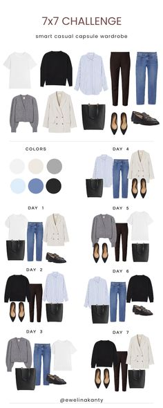 Capsule Wardrobe Women, Capsule Outfits, Fashion Capsule, Capsule Wardrobe Winter, Fall Wardrobe, Casual Work Outfits, Business Casual Outfits, Stylish Outfits, Fall Outfits