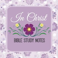 In Christ - Bible study notes