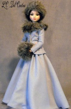 """Winter Wonderland"" Victorian for Ellowyne Tonner BJD MSD by lcdollcreations via eBay, SOLD 11/30/14   $77.88"