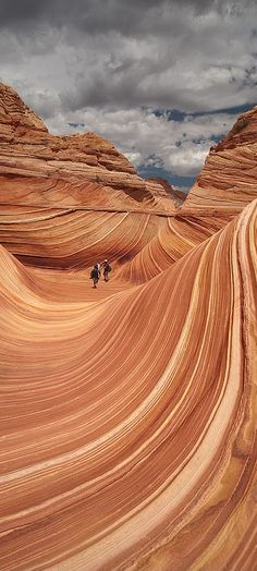 The WAVE. Famous geological feature of Coyote Buttes in Northern Arizona
