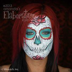 Sugar Skull | Amanda's Elaborate Eyes Face & Body Painting