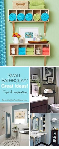 Adorable Small Bathroom? Great Ideas! • Tips, Ideas & Inspiration! • Explore our blog for more great DIY projects and home decorating ideas!  The post  Small Bathroom? Great Ideas! • Tips, Ideas ..