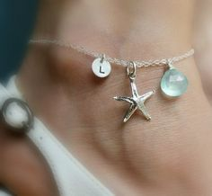 PERSONALIZED ANKLET with starfish charm Initial & by BriguysGirls, $39.50