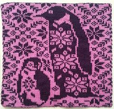 Oh how I love penguins.  Double Knit square. Pattern Name - Double Double Penguin Potholder.  Free Pattern by Phoebe Leigh-Suelflow