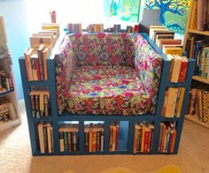 """Hello everyone, my name is Darko and this in my first Instructables.Task to build bookshelf chair aka """"biblio-chaise"""" that can hold as many as 18 feet of books.After seeing this ..."""