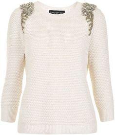 Embellished Knit Sweater