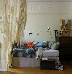 Take a cue from your Grandma and throw some lace up on your windows and walls.      source      source      source      source      And I l...