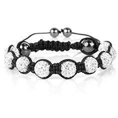 Shamballa Bracelet Crystal Balls Crystal Clear Shamballa Swarovski Element 9 Balls  http://electmejewellery.com/jewelry/bracelets/strand/shamballa-bracelet-crystal-balls-crystal-clear-shamballa-swarovski-element-9-balls-com/