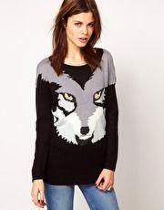 Warehouse Wolf Sweater at ASOS