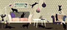 Par les moustaches de mon chat (ou de mon chien) ! Quels papiers peints conviennent pour les propriétaires d'animaux familiers ?