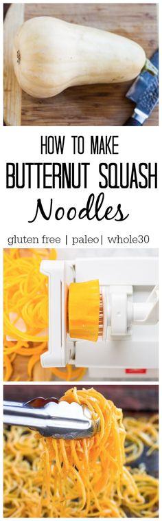 How to Make Butternut Squash Noodles - www.savorylotus.com