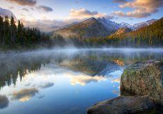 Bear Lake Fog at Sunrise by Richard Hahn