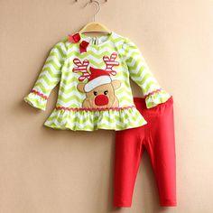 los nios ropa de navidad nios cervatillo lindo modelo t rayado shirt pants ropa conjuntos